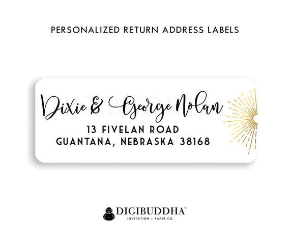 Modern Address Labels Calligraphy Return