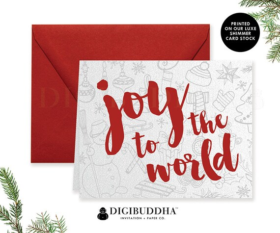 BOXED CHRISTMAS CARD Set Holiday Cards Greeting Card Christmas Card Set Boxed Holiday Shimmer Christmas Cards & Red Envelope Pack - Sweetin