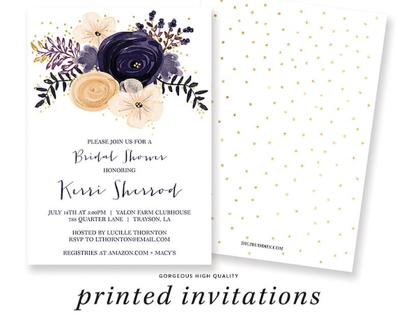 purple bridal shower invitations bridal shower brunch bridal etsy