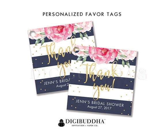 Wedding Gift Tax: Floral Bridal Shower Favor Tag Custom Gift Tag Bridal