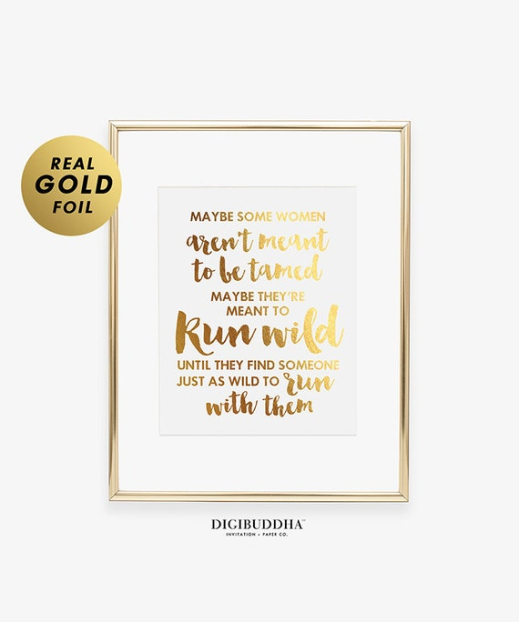 Women Tamed Inspiration Wild Typography Print Poster Motivation Unframed Quote