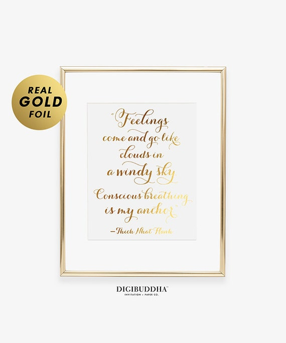 Yoga Pose Gold Foil Decor Print Inspirational Exercise Modern Wall Art Poster ..