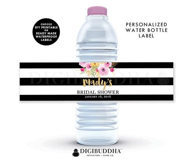 Water Bottle Labels Bridal Shower Water Bottle Labels Baby Shower