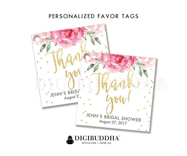 photo regarding Bridal Shower Gift Tags Free Printable called Floral Bridal Shower Desire Tag Personalized Reward Tag Bridal Shower Choose Tag Label Tags Reward Tag Bash Desire Tag Do it yourself Printable or Posted - Jenn