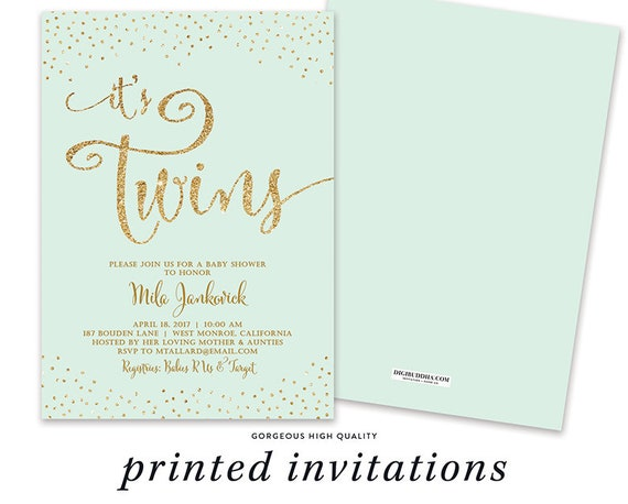 twins baby shower invites twins baby shower invitations etsy