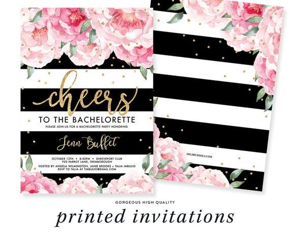 Floral Bachelorette Party Invitation Bachelorette Invite Custom