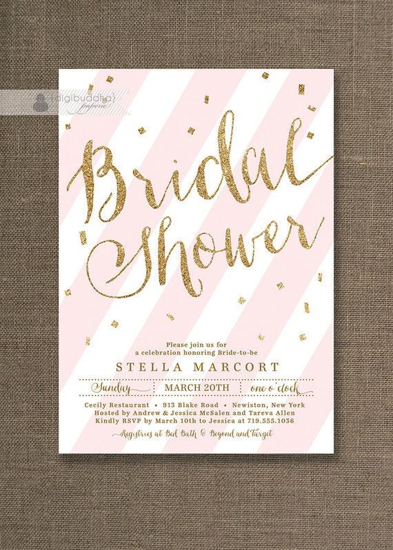 Gold glitter bridal shower invitation bridal shower invites etsy image 0 filmwisefo