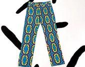 90s Tripp NYC Psychedelic Printed Denim Pants Jeans Tie Dye Fractals LSD Size 5 Rocket Ship Tag Rave Club Kid Acid Cyber