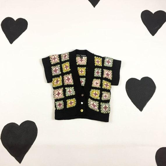 90s Betsey Johnson Psychedelic Blanket Crocheted C