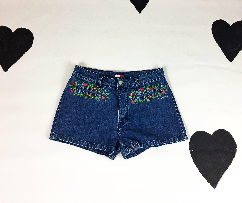 a39a0aad5b1 90s Tommy Hilfiger Super Mini Shorts   Daisy Dukes   Floral