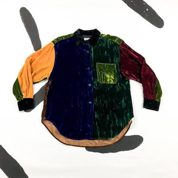 90s Todd Oldham 7 Times Seven Crushed Velvet Color