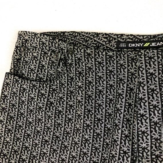 90s DKNY Jeans Allover logo Print Jeans / Denim /… - image 4
