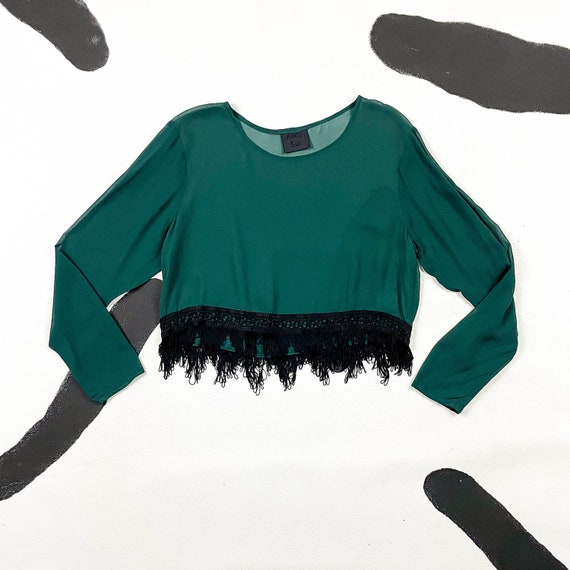 90s Anna Sui Gray Denim Jacket / Pockets / Struct… - image 1