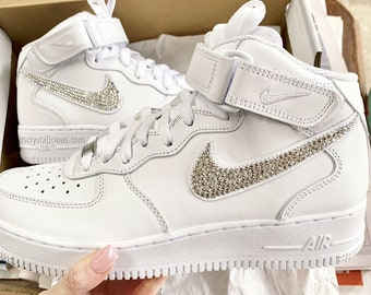 99bae59f097f5 Sparkle air force 1   Etsy UK