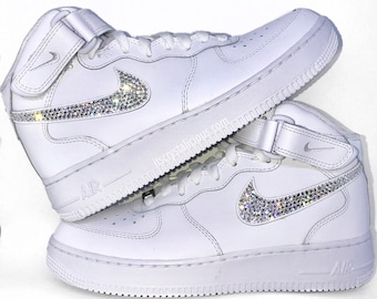 Genuine Bling Nike Air Force 1 s embellished with Genuine Swarovski Crystals cd06117e1