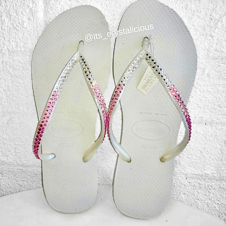 344d89780e0a Havaianas Covered In SWAROVSKI Crystal Bling Flip Flops-3
