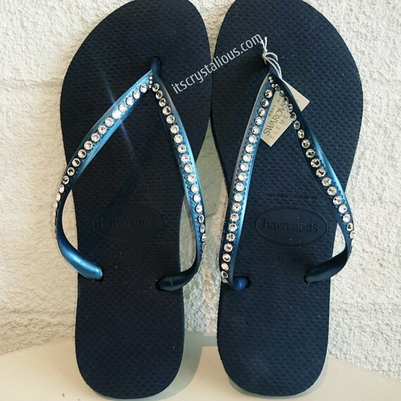 In SWAROVSKI Row Havaianas Bling Crystal Flops Covered 1 Flip Ugqqwz