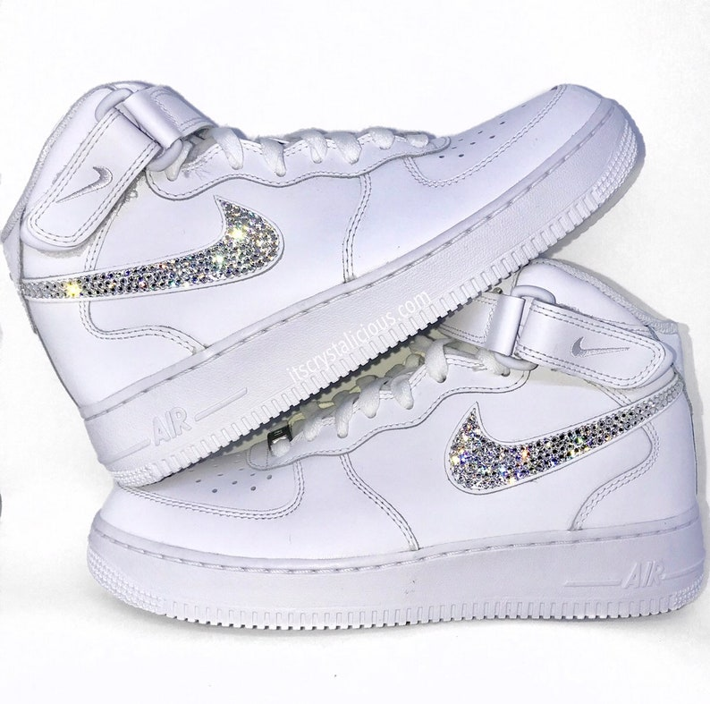 wholesale dealer 62f86 9c194 Genuine Bling Nike Air Force 1 s embellished with Genuine   Etsy