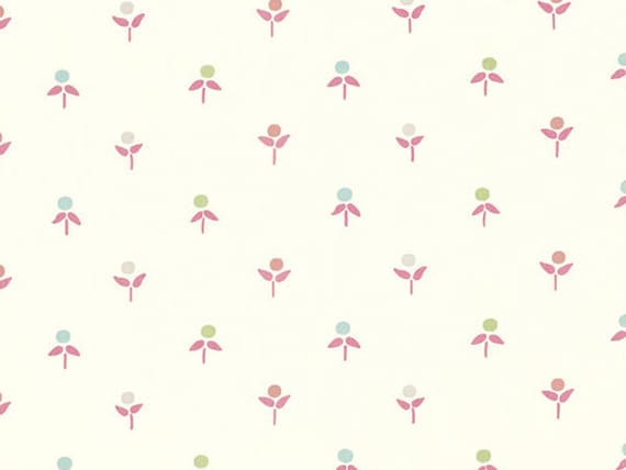 Laura Ashley Cottage Sprigs Pink Printed 100 Cotton Fabric Discontinued Design Home Furnishing Material Per 1 2 Yard Pink Multi