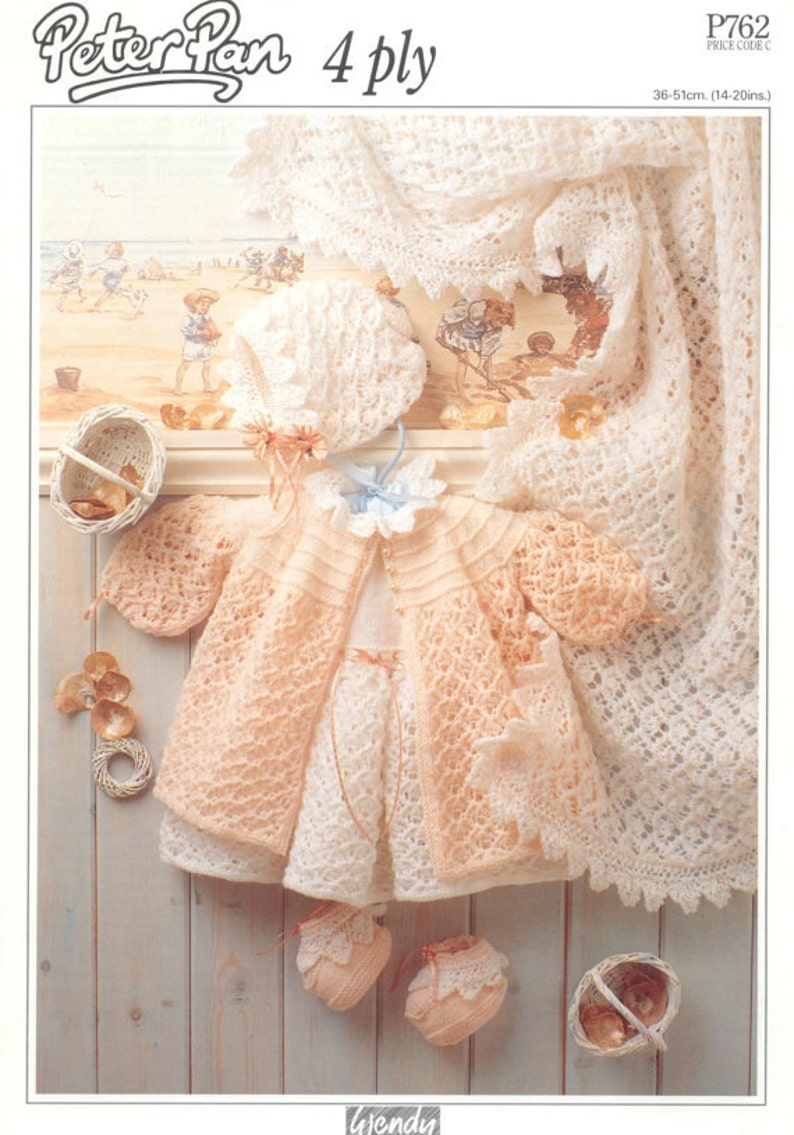 cc6776c1f PDF Knitting Pattern for Baby Layette Set Instant Download
