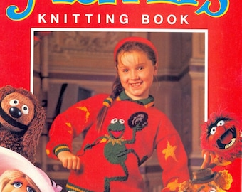 PDF Knitting Pattern Booklet for The Muppets Toys and Cardigans - Instant Download