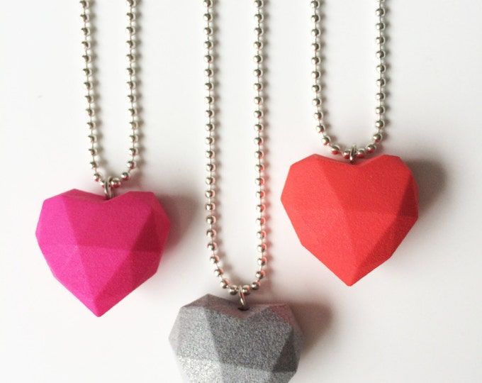 Featured listing image: 3D printed heart necklace
