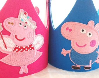 Peppa Pig Birthday Hat- Peppa Ballerina Party Hats- George Pig Party Hat