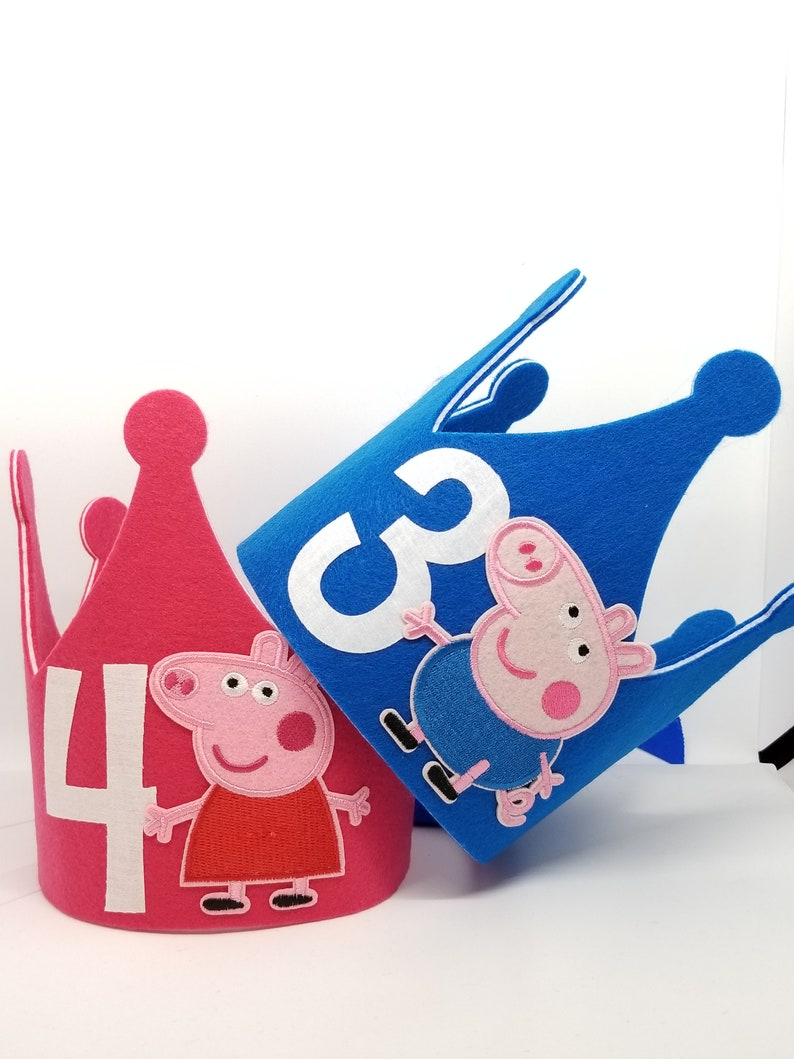 d3107771716 Peppa Pig Birthday Hat Peppa Ballerina Party Hats George Pig