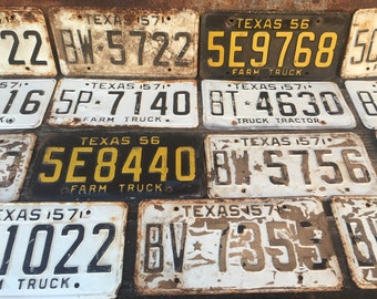 1 Antique Vintage 1956 Mississippi Car Truck Farm Tag License Plate Yellow Black