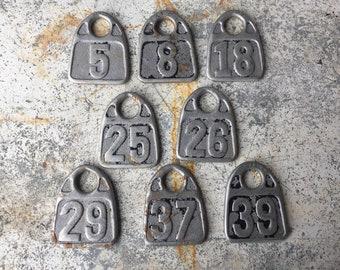 Vintage Aluminum Keychain with Vintage Metal 26 Tag