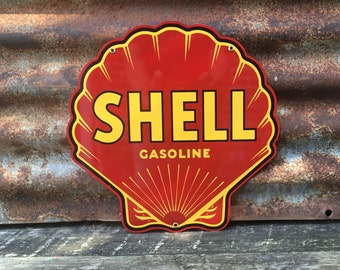 Shell gas signs | Etsy