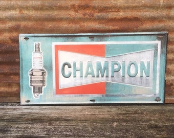 Beautiful Champion Spark Plug Vintage Mid Century Advertising Collectable Table Lamp Street Price Lamps, Lighting