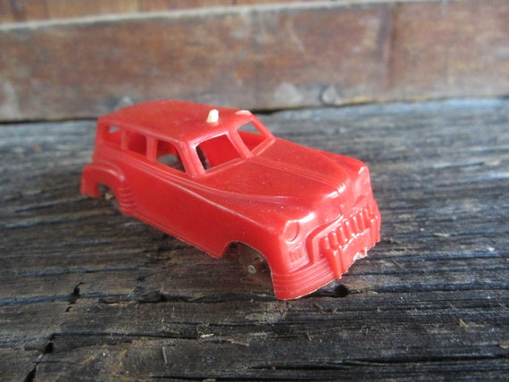Vintage Plastic Toy Car Red Station Wagon Car 1950s Era Old Etsy