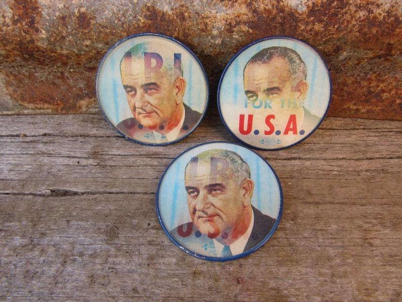 40c2beff2e4 PRICE PER BUTTON Vintage lbj Lyndon B Johnson Presidential