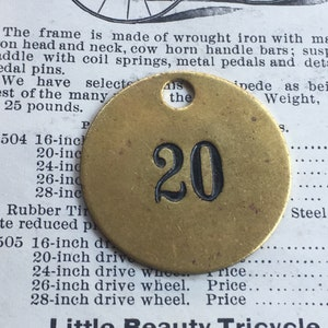 Number 80 Tag Charm Brass Number Tag 1 12 Inch Shiny #80 Tag Vintage Tag Industrial Identification Tag Lucky Number House Number Keychain