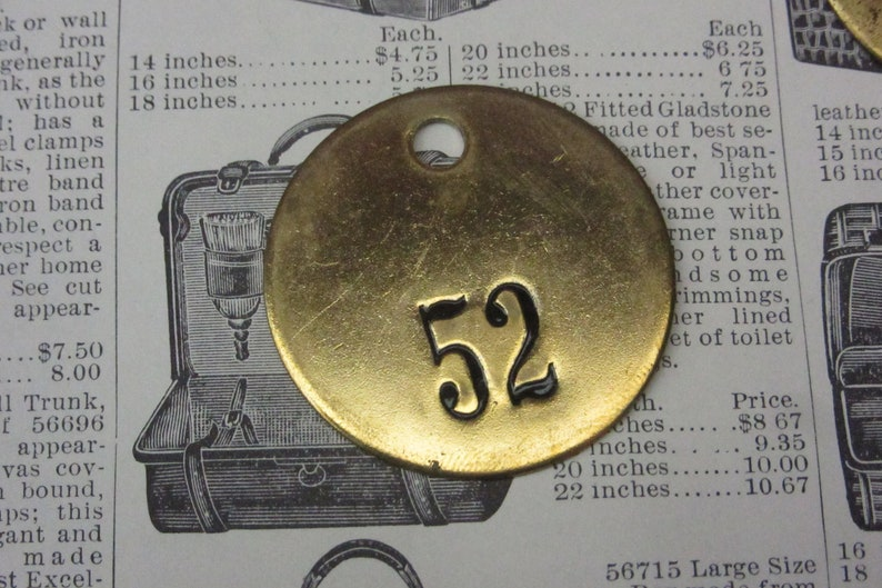 Number Tag Charm Brass Number 83 Tag Small 1 Inch Aged #83 Tag Vintage Tag Industrial Identification Tag Lucky Number House Number Keychain