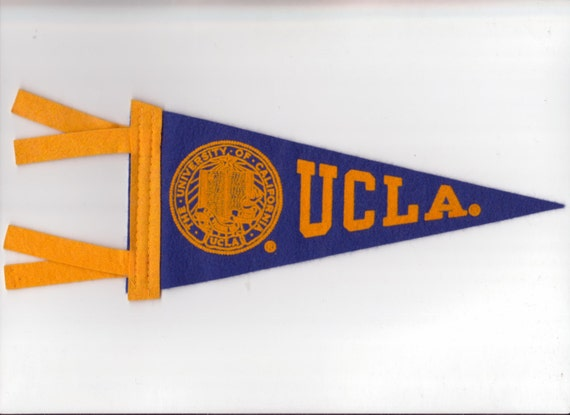 Vintage College Pennant California UCLA Los Angeles University