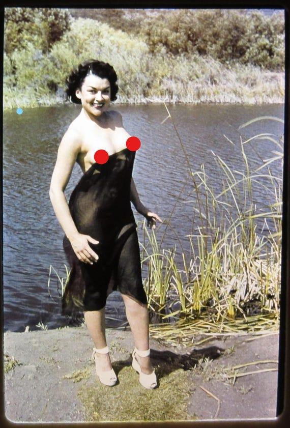 Original Nude Photo Slide Vintage Risque 1950S Color Nude  Etsy-3225