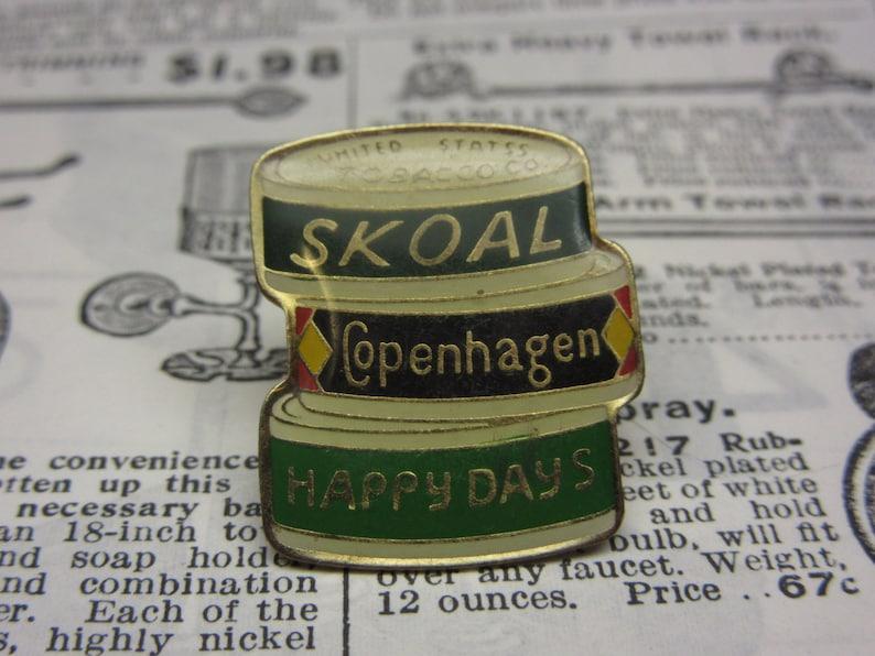 cc8925f3c3e9 Vintage Skoal Chewing Tobacco Copenhagen Can of Snuff Lapel