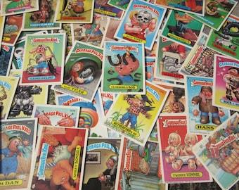 Garbage Pail Kids Cards Lot of 25 or 50 Randomly Chosen Vintage GPK Sticker Cards Topps 1980s Original Series Loose Cards 80s 1980s VTG