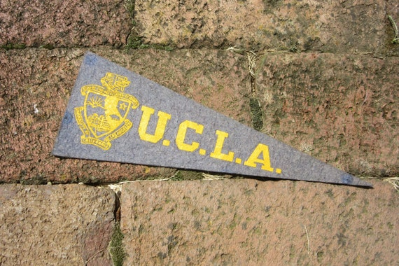 Vintage College Pennant UCLA University California Los Angeles