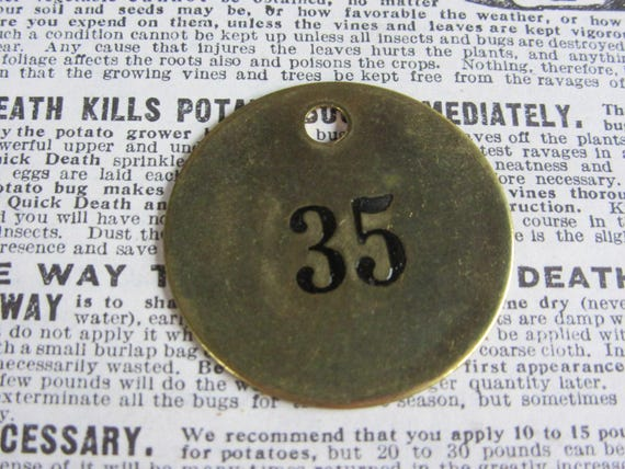Number 96 Tag Charm Brass Number Tag 1 12 Inch Shiny #96 Tag Vintage Tag Industrial Identification Tag Lucky Number House Number Keychain
