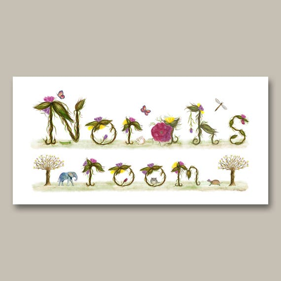 Norah's Room Name Sign