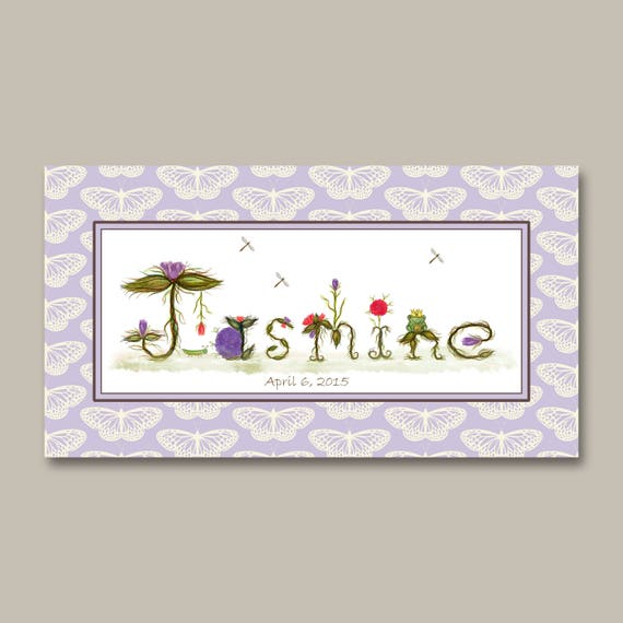 Personalized Gifts - Name Signs for Nursery Decor - Personalized Baby Gifts Name Signs - Ready to Hang Canvas Prints for Boys and Girls