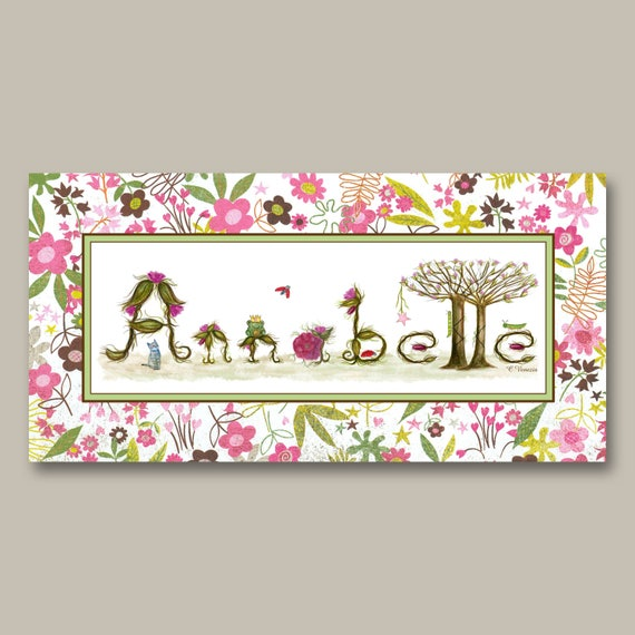Unique Nursery Decor Name Signs - Unique Gifts for Newborn Baby - Ready to Hang Canvas