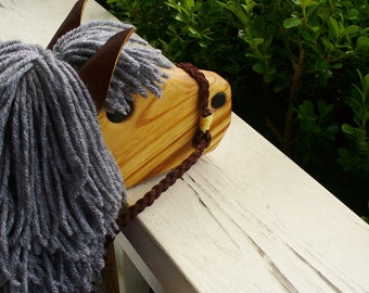Stick Horse Toy - Heather Gray Hobby Horse