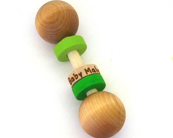 Personalized Montessori Baby Toy - Pick Any 2 Colors - Eco Friendly Grasping Toy