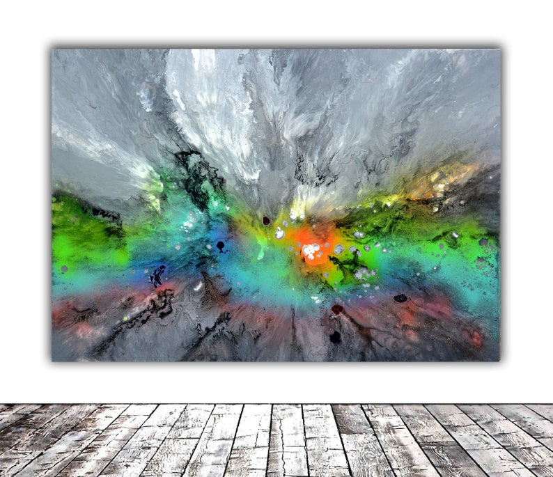 40x30 Fluid Painting Ready To Hang Large Original Etsy