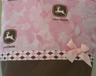 Pink & Brown John Deere  Purse Tote BAG or Diaperbag