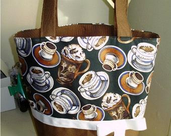 Cafe Latte Espresso Tea  Coffee BAG Purse Tote BAG or Diaperbag